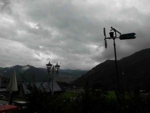 13.08., 8.39 Uhr, wieder mal schlechtes Wetter heut