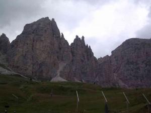 13.08., 9.57 Uhr, Blick auf die Dolomiten